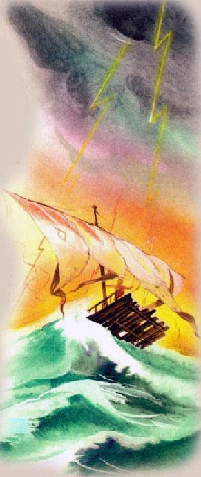 плот в шторм
