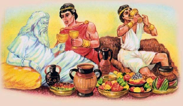 Одиссей пирует