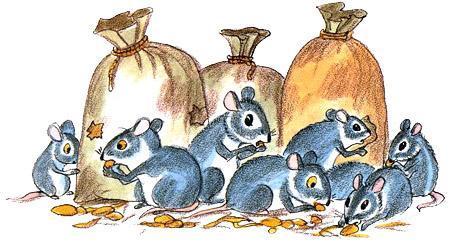 мышки у мешков