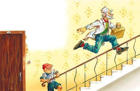 Детский Доктор, как мальчишка, прыгал через две ступеньки.
