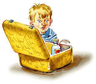 жёлтый чемоданчик и мальчик