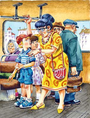 Петька и Тома едут в троллейбусе