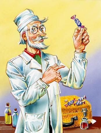 жёлтый чемоданчик Детский Доктор с конфетой