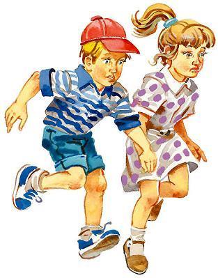 Петька и Тома бежали по квадратным плитам аэродрома