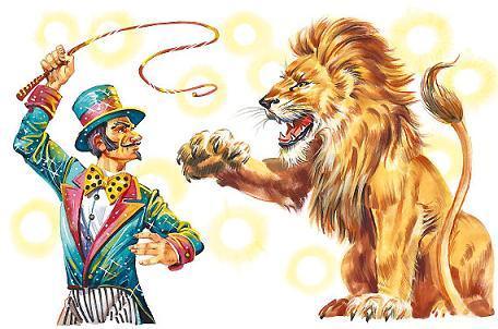 дрессировщик и лев