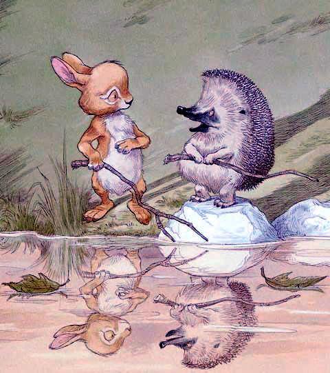 Ёжик и Кролик у реки