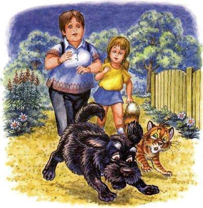 кот Пузик и пёс Тузик Дуся и её мама