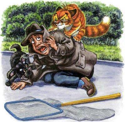кот Пузик и пёс Тузик поймали и обезвредили злодея