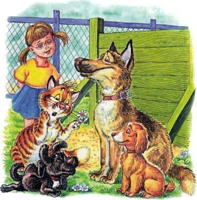 кот Пузик и пёс Тузик и собаки