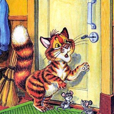 кот Пузик и мышки