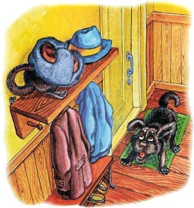 пёс Тузик обнаружил чужака под шапкой