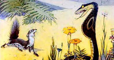 мангуст Рикки-Тикки-Тави и змея наг