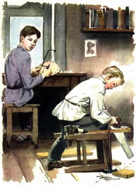 дети Ульяновы мастерят из дерева