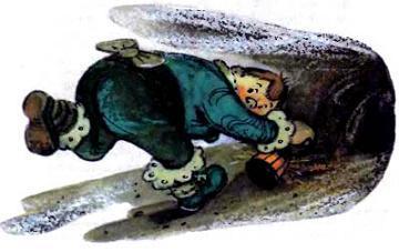 Руф Билан бежит через подземелье