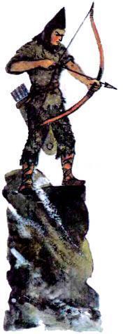 Стрелки из лука заняли боевые позиции лучник