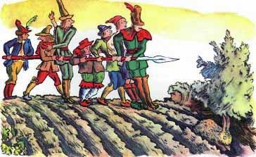 Сказка Семеро храбрецов, Братья Гримм