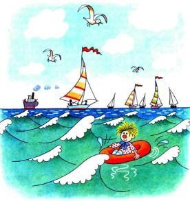 Сипсик в море на лодочке