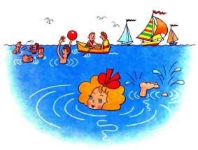 Аня в воде