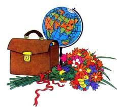 школьный портфель и глобус