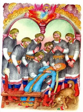 Сказка о мёртвой царевне и семи богатырях | Изображение - 11