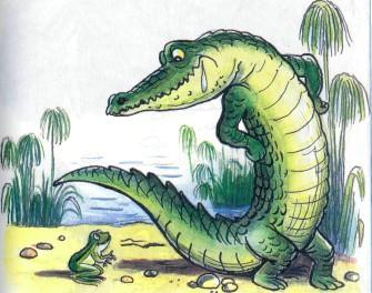 крокодил и лягушка лягушонок