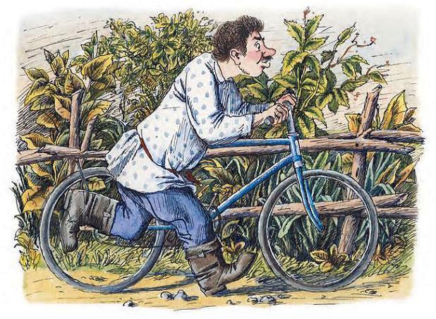 Подушкин сразу, конечно, побежал в лес. На велосипеде