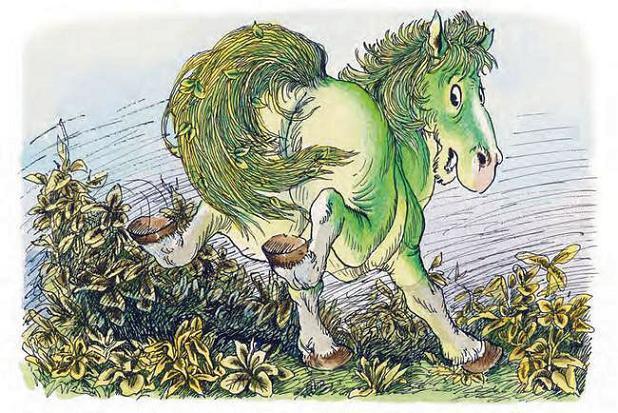 Зелёная Лошадь убегает