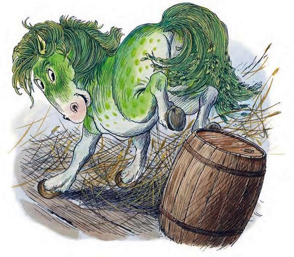 Лошадь прицелилась, брыкнулась как следует, – и покачнулась бочка