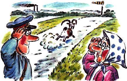 козел убежал милиционер и старушка