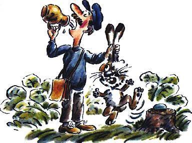контролер поймал зайца за уши