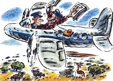 репортер на самолете
