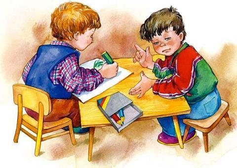 дети рисуют за столом