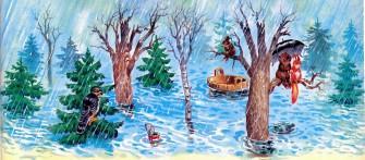наводнение в лесу