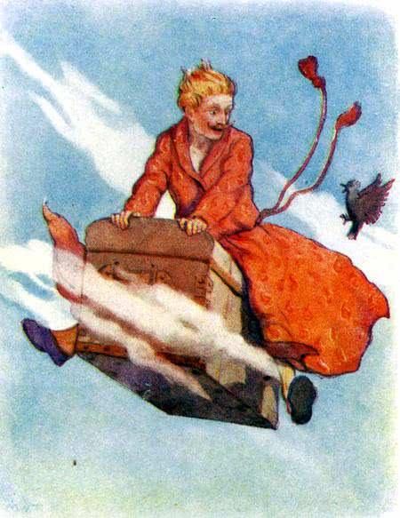 Сундук-самолёт сказка Андерсена