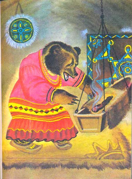 медведица качает люльку