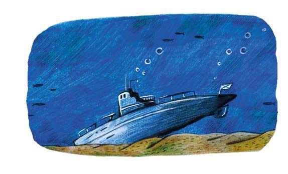 подводная лодка на дне легла на грунт