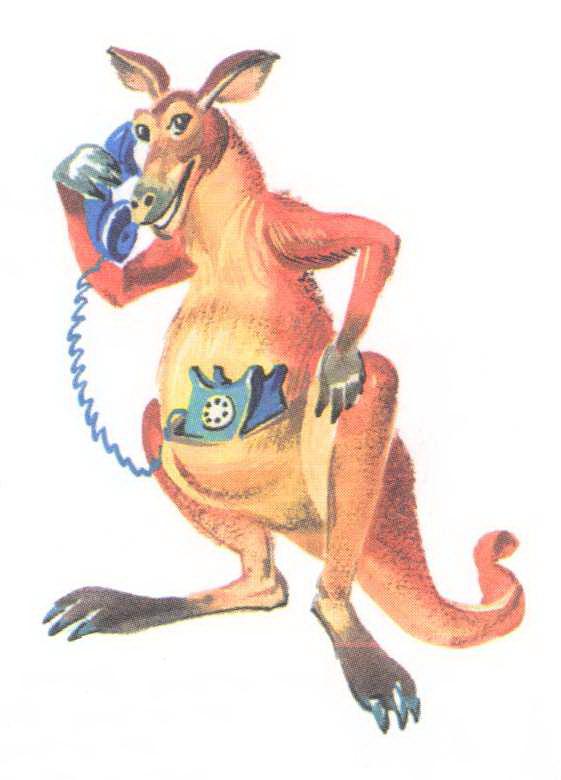 кенгуру у телефона, Чуковский