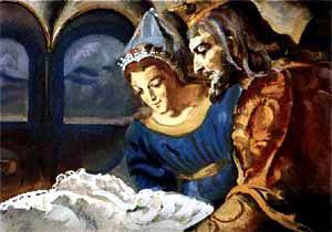 Жили когда-то король и королева и маленький ребенок