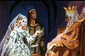 Королевич взял ее за руки и подвел к отцу и матери.