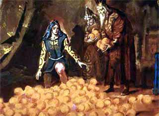 навалили перед королевичем целую гору золотистых плодов