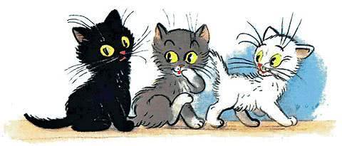 сказка Три котёнка Сутеева