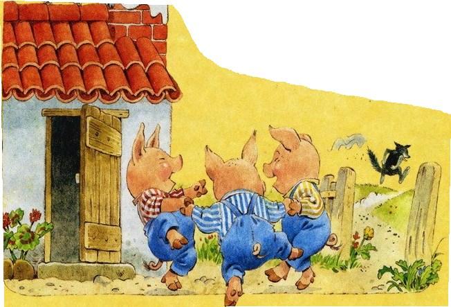Сказка Три поросёнка, Английская народная сказка