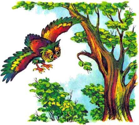 сова филин летит