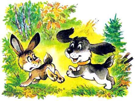щенок и заяц