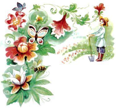 прекрасный сад садовник