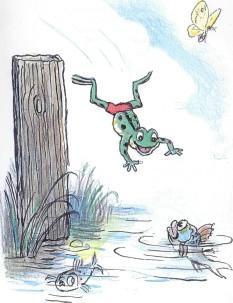 лягушонок, лягушка, озеро