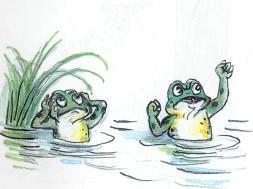 лягушонок, лягушка, болото, озеро