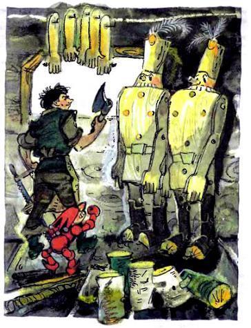 Урфин Джюс делает деревянных солдат