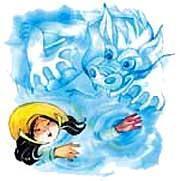 Вода заклокотала вокруг девушки. Зеленый дракон - властитель потока схватил Маи.