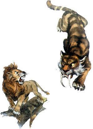 трусливый лев и саблезубый тигр